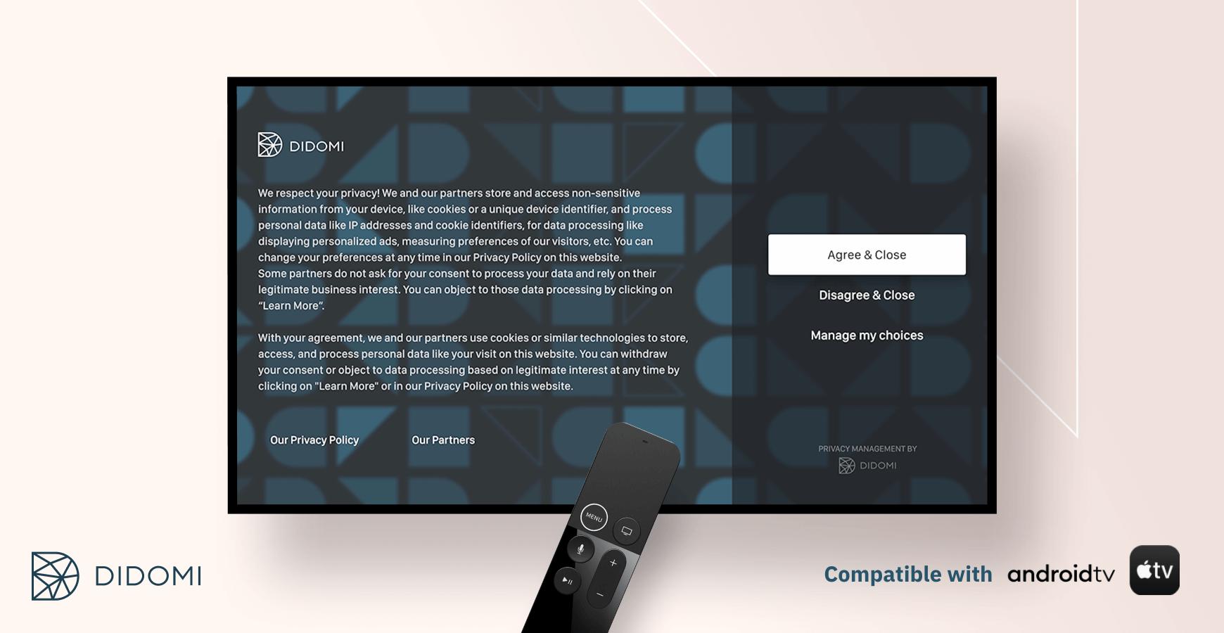 Didomi es la primera empresa europea que ofrece una solución de gestión del consentimiento para la TV conectada compatible con el TCF