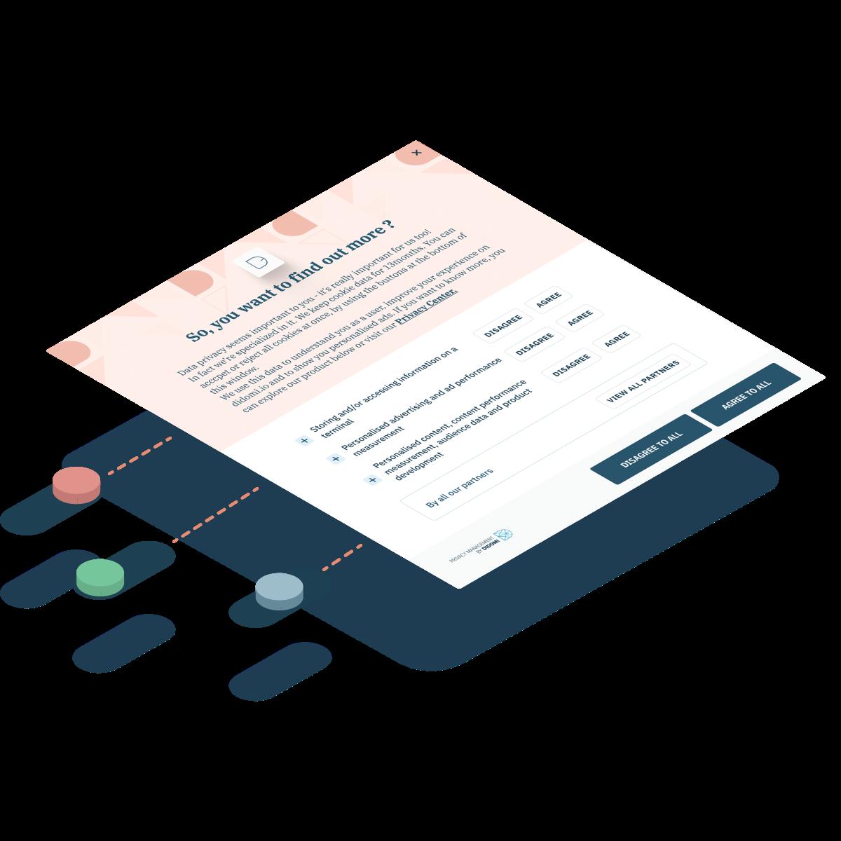 Illustration of the Didomi Consent Management Platform