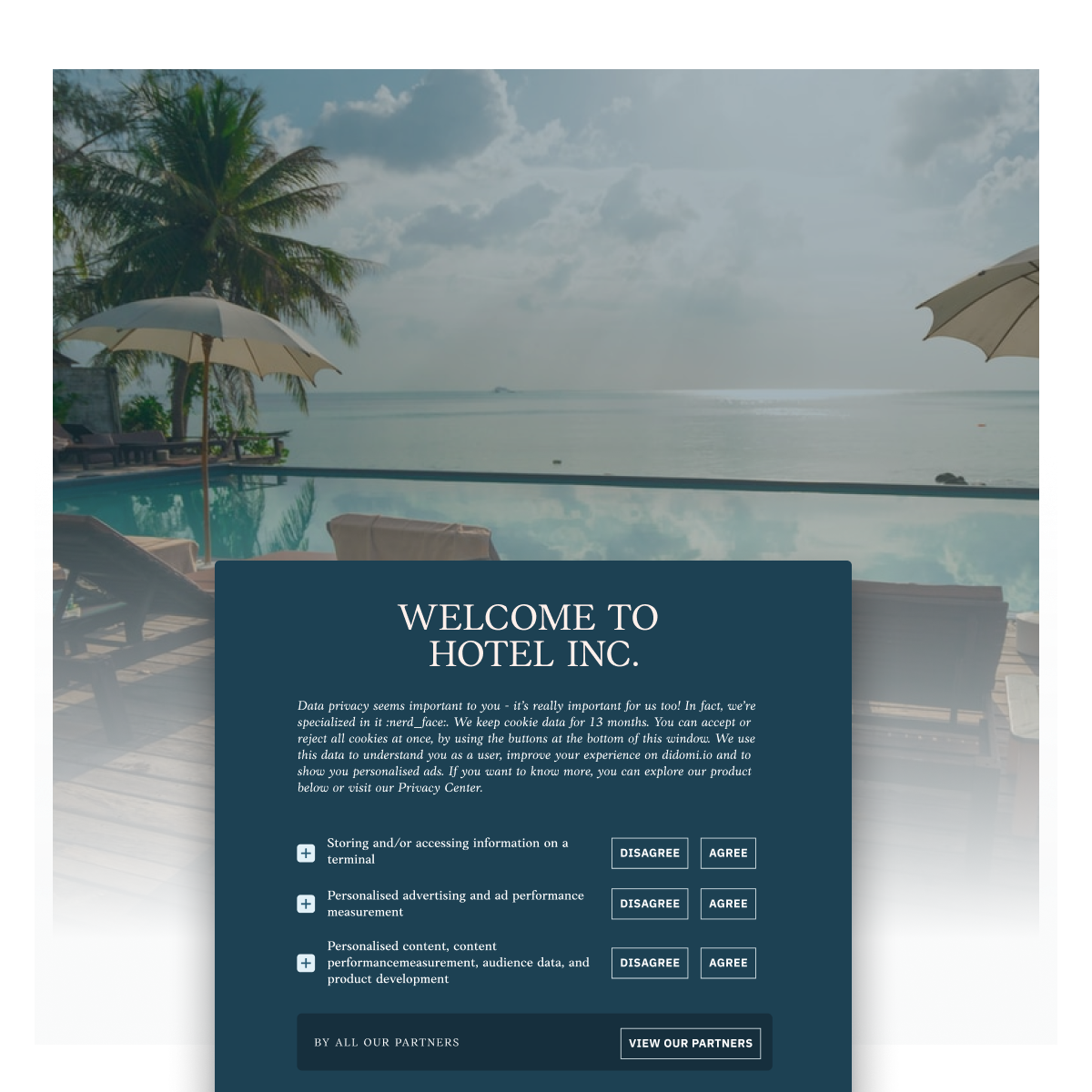 Illustration of a consumer showing love to the hotel or travel agency